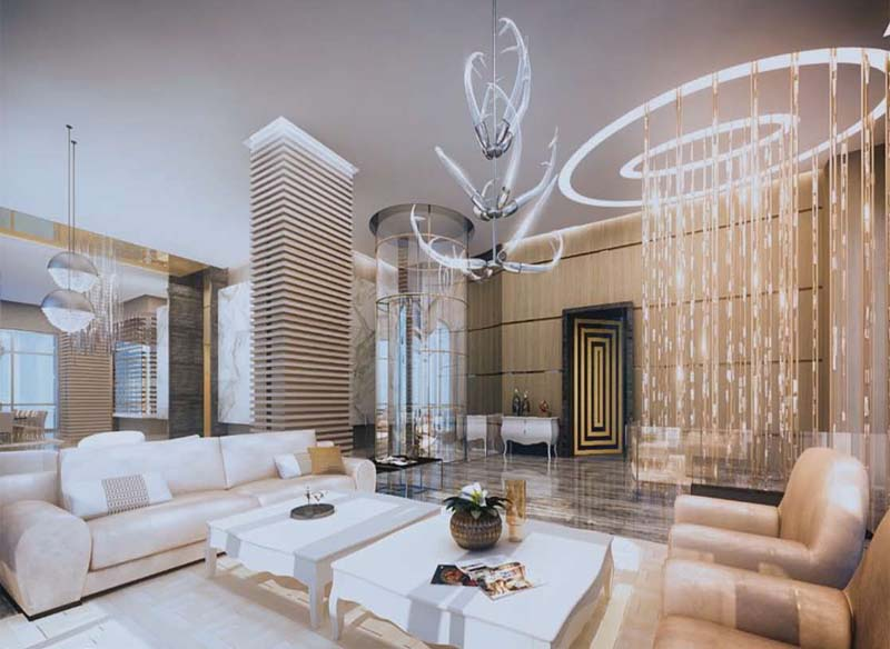 Beau Mansions At Acqualina Living Room