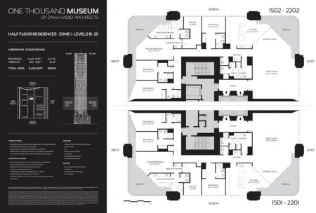 One Thousand Museum Half Floor Residence Zone 1