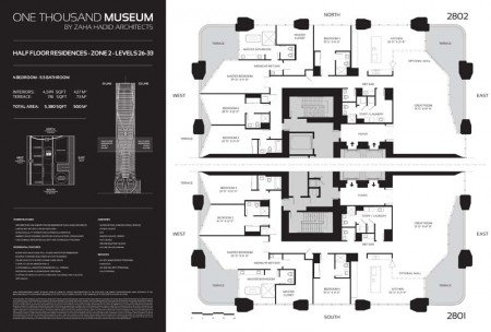 One Thousand Museum Half Floor Residence Zone 2