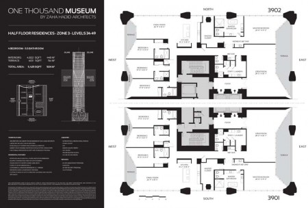 One Thousand Museum Half Floor Residence Zone 3