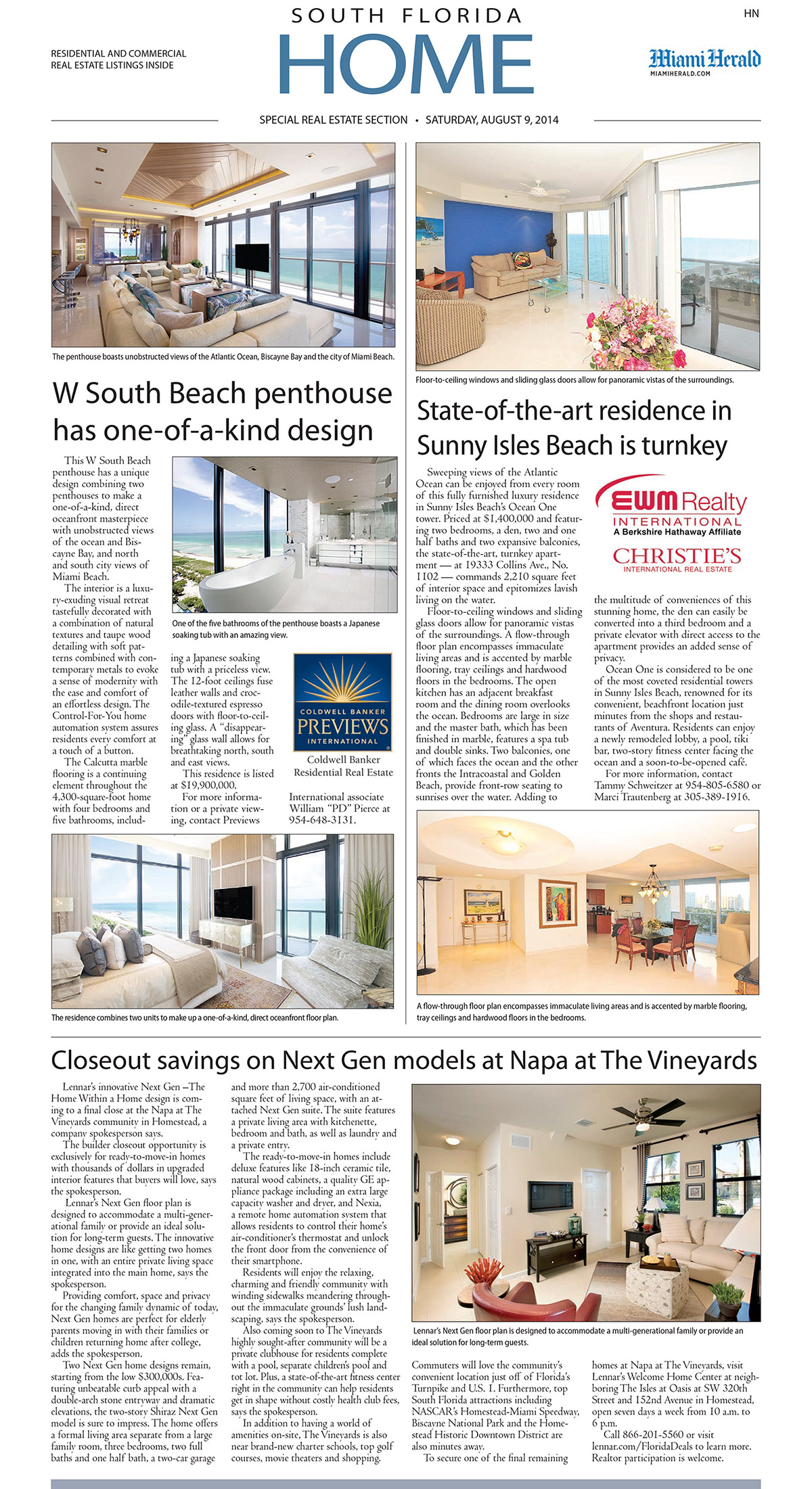 Miami Herald North Front Cover Aug 9